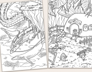 Fantasy Colouring Cards