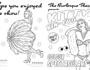 Kitty Kin-Evil Burlesque Colouring Book
