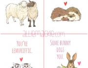Animal Heart Cards