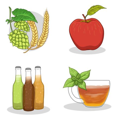 Beverage Designs for Blog Header