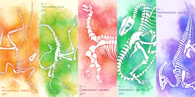 Dinosaur Fossil Bookmark Designs