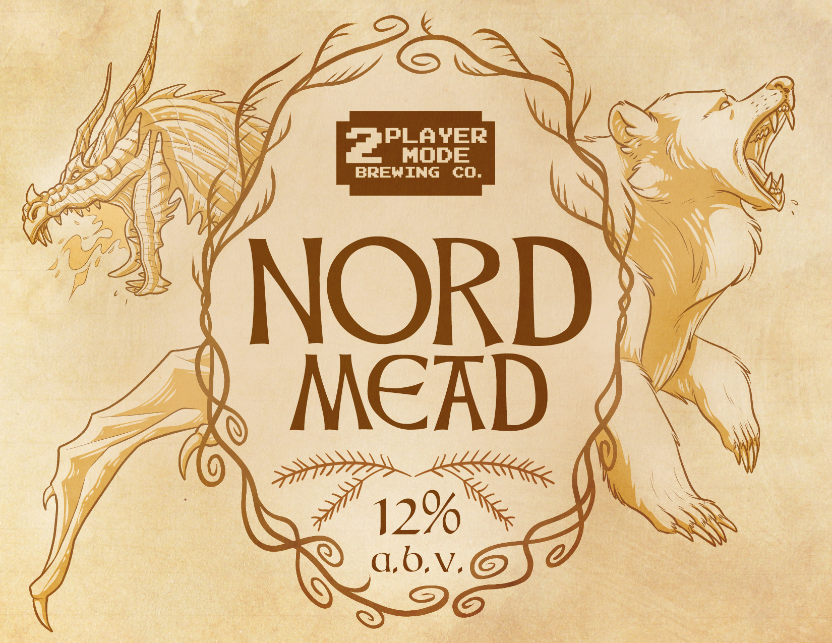 Mead Label Design - Nord Mead (Skyrim Influenced)