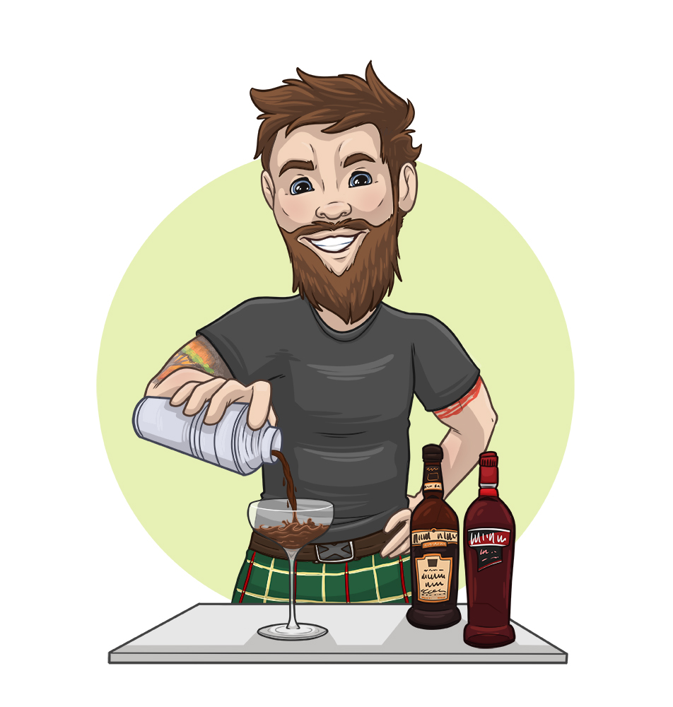 The Thirsty Chef - Business Caricature Portrait