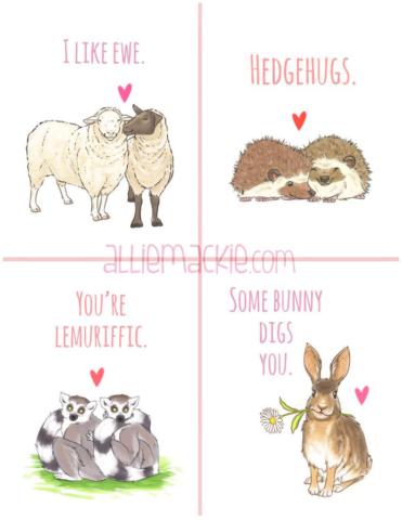 Animal Love Greeting Card Designs